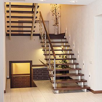 Выбор в пользу металлической лестницы в коттедж